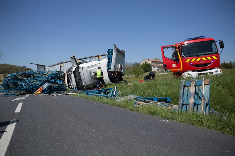 Accident de la circulation sur la commune de Puylaurens
