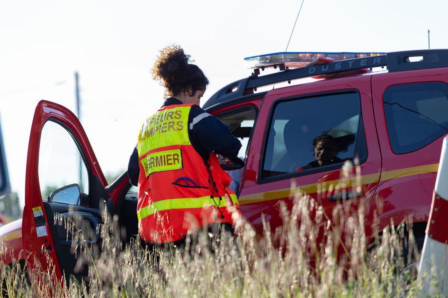 Accident de 3 véhicules à St Germain des Prés