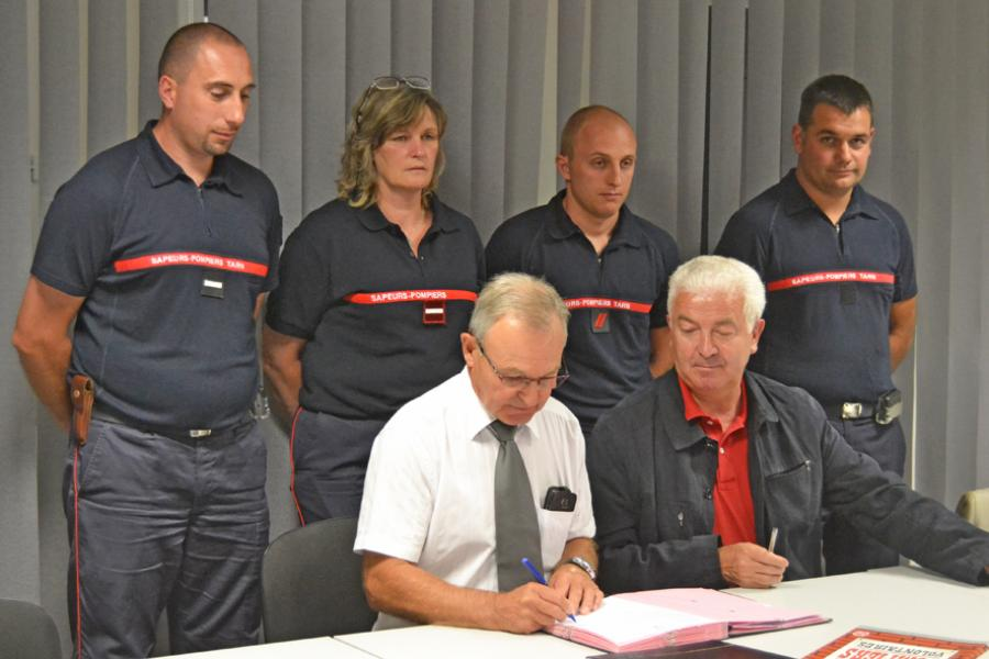 Signature de convention de disponibilité à Lacaune-les-Bains