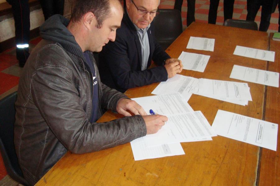 Signature de conventions de disponibilité à Anglès