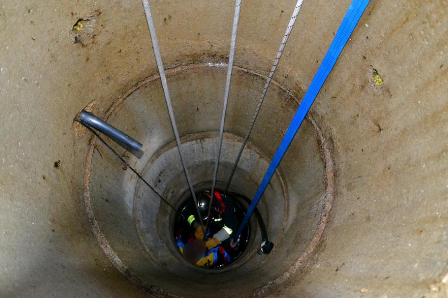 Chute accidentelle d'une personne dans un puits à Saint-Sulpice