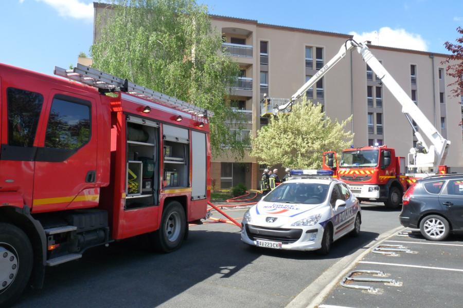Albi : feu de cuisine dans un appartement