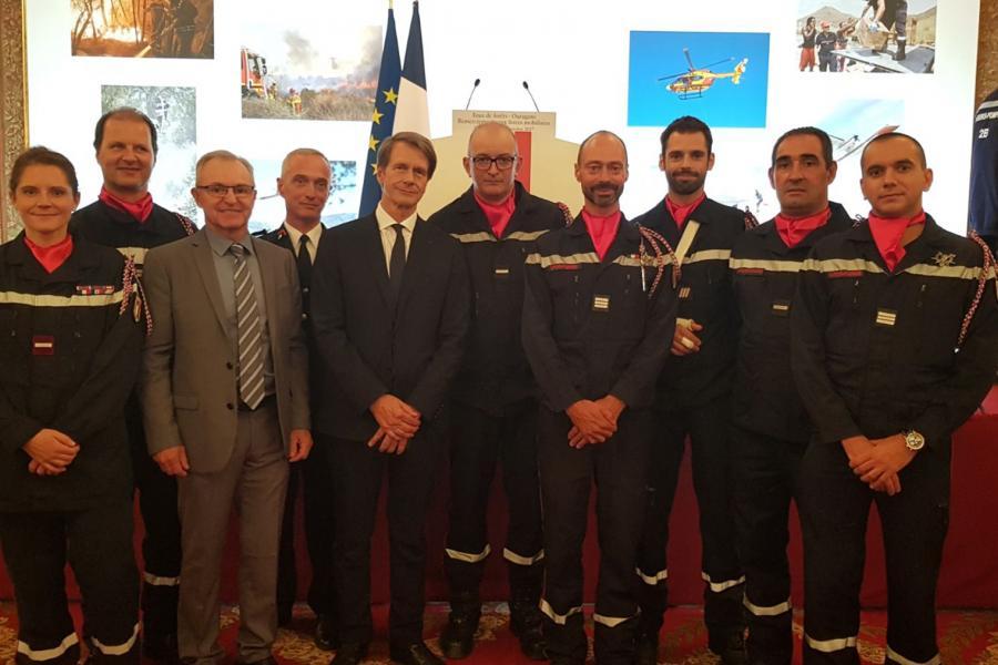 Les sapeurs-pompiers du Tarn reçus à l'Elysée