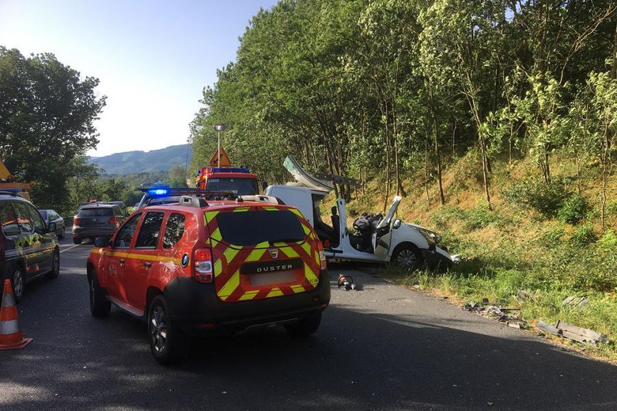 Accident frontal à Labruguière