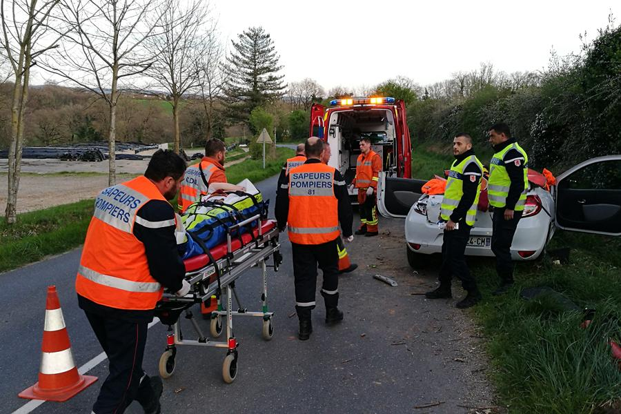 Accident de la circulation sur la commune de Almayrac