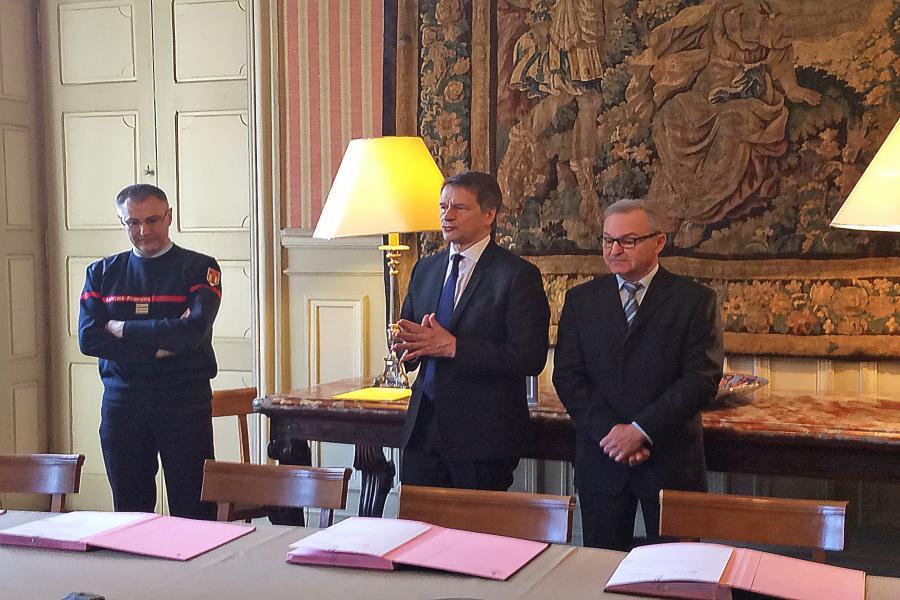 Signature de convention entre le MEDEF et le SDIS du Tarn
