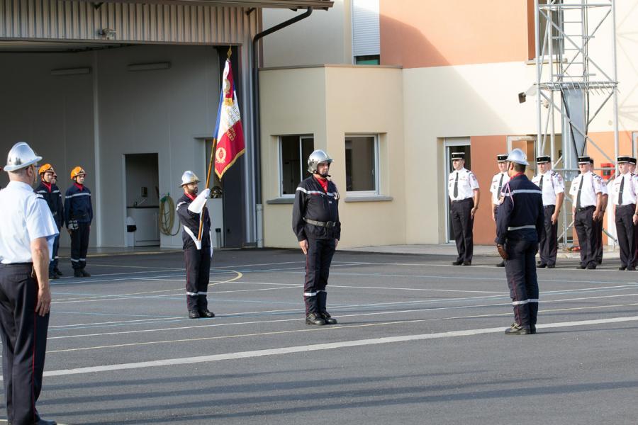 Prise de commandement au centre de secours de Labruguière