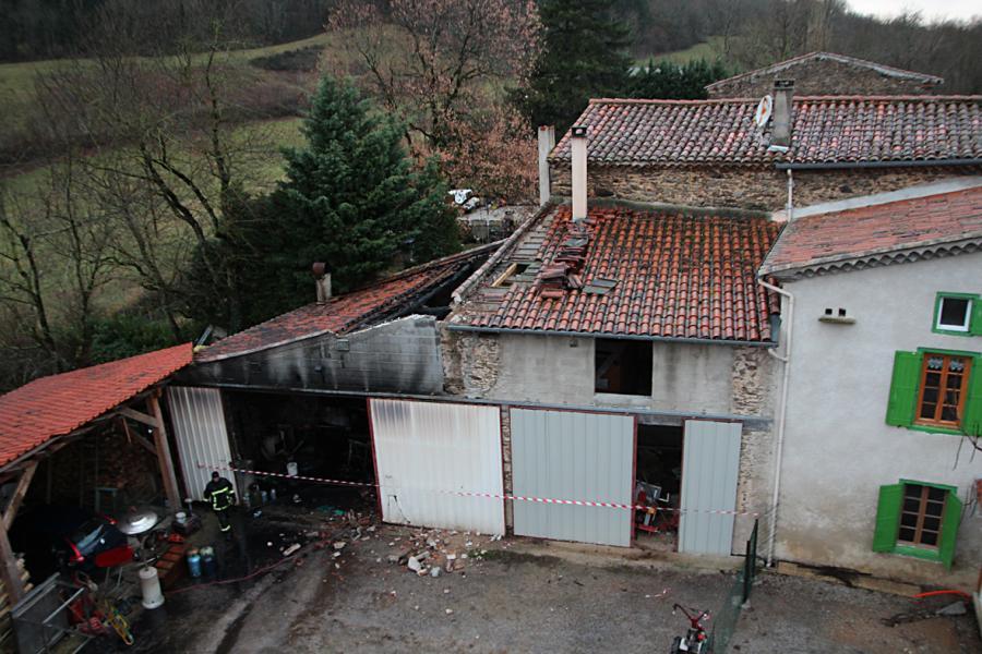 Feu de bâtiment agricole sur la commune d'Escoussens