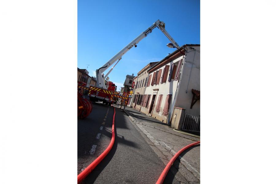 Incendie d'un appentis à Villefranche d'Albi