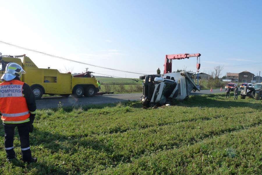 Accident de la circulation sur la commune de Saussenac