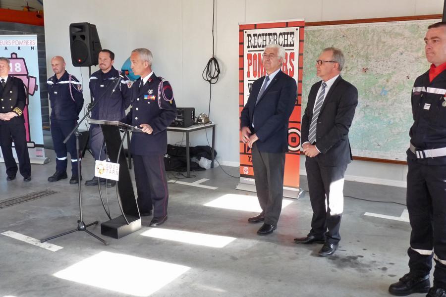 Passation de commandement du centre de secours de Lacaune-les-Bains