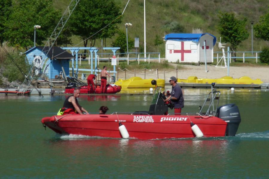 Les plongeurs en manoeuvre interdépartementale à Cap'Découverte