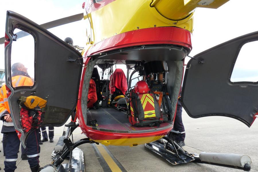 Un hélicoptère de sécurité civile au SDIS du Tarn
