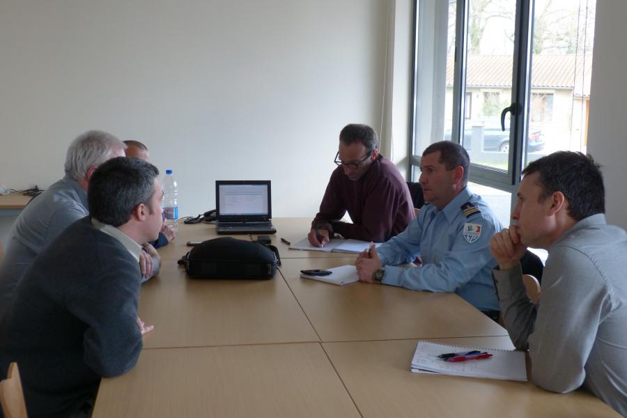 Une délégation du SDIS 17 en visite à l'Etat-major
