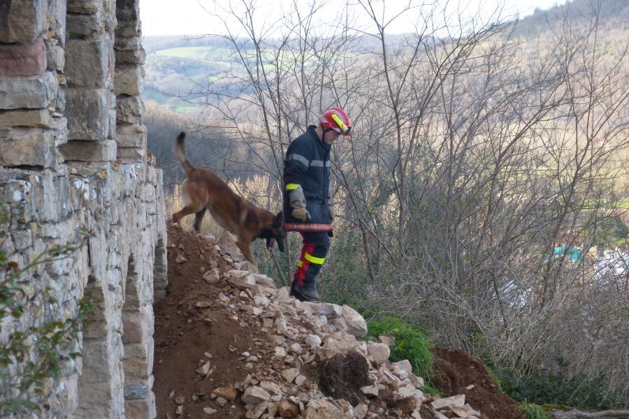 Effondrement d'un mur de soutènement du château de Milhars