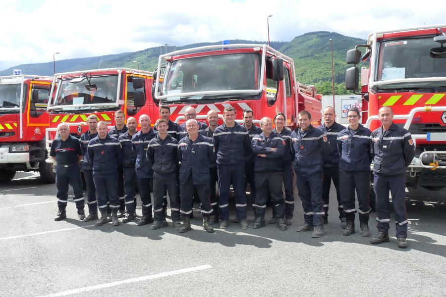 Les sapeurs-pompiers du Tarn en renfort dans l'Aude et les Bouches-du-Rhône