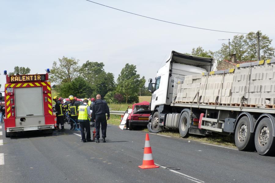 Violente collision sur la RD612