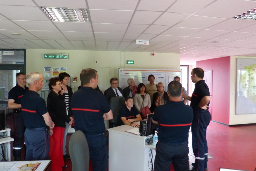 Visite des élus du canton de la Vallée du Thoré au SDIS du Tarn