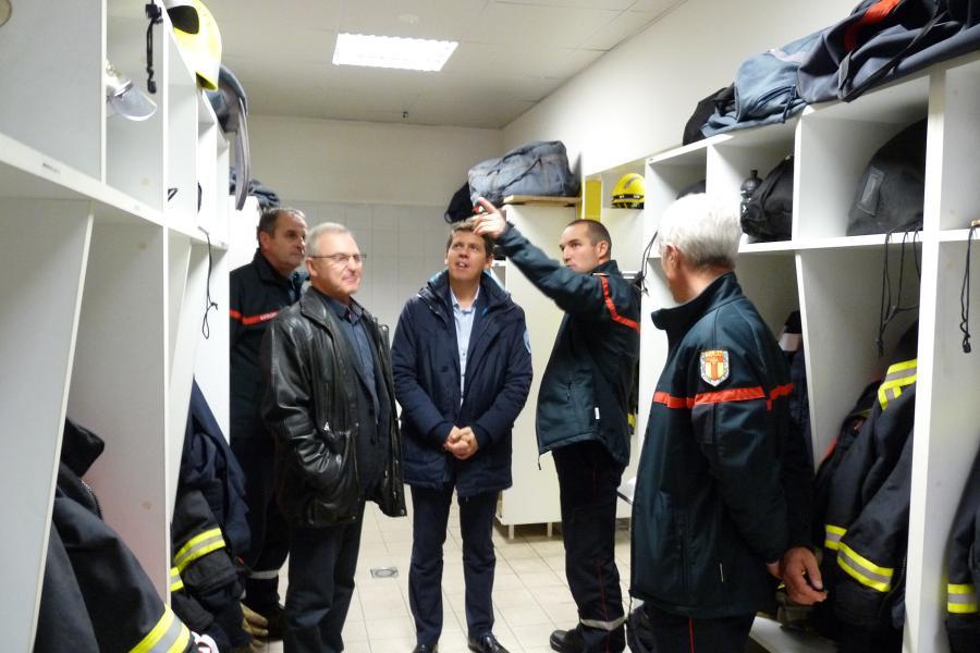 Visite du nouveau président du Conseil départemental