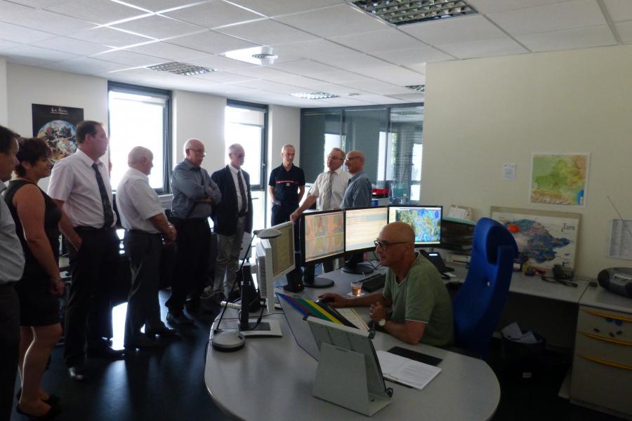 Visite des élus du canton de Labruguière au SDIS du Tarn