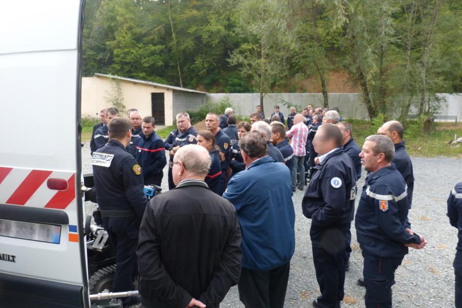 Journée d'information relative au service déminage de la sécurité civile