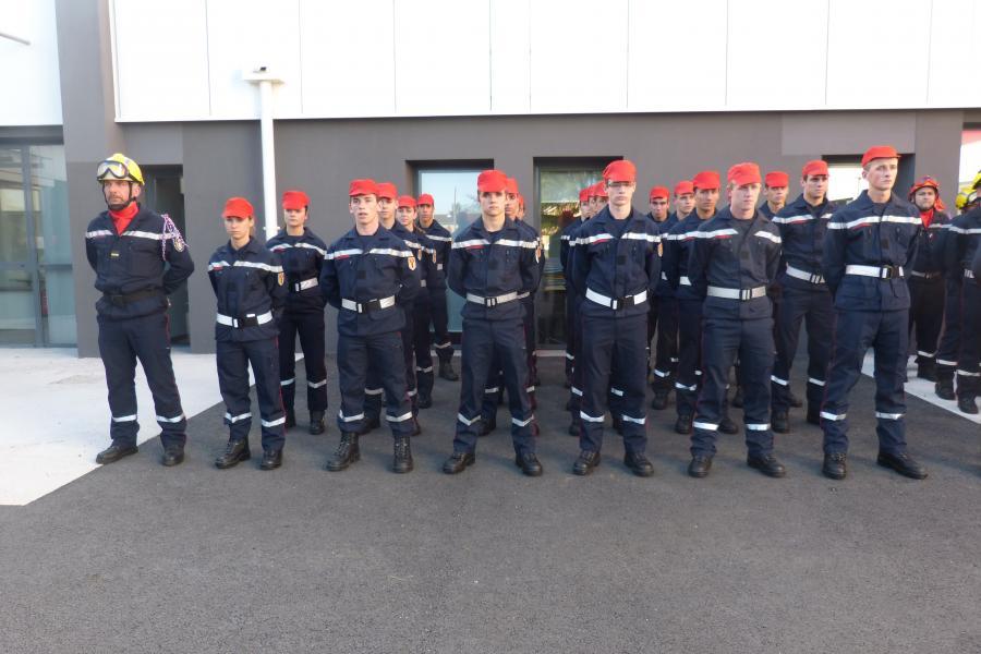 Cérémonie en l'honneur des jeunes sapeurs-pompiers : une première du genre !