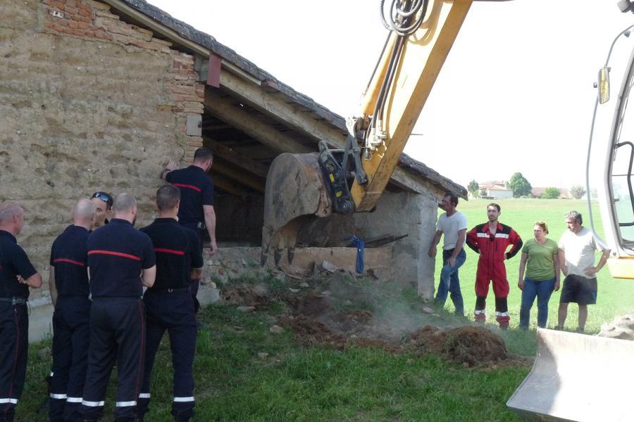 Sauvetage animalier sur la commune de Fréjairolles.