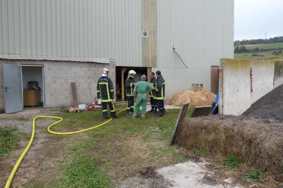 Feu de séchoir à maïs sur la commune de Cordes-sur-Ciel