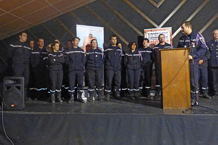 Sainte-Barbe du Groupement Ouest et inauguration du CIS Vaour