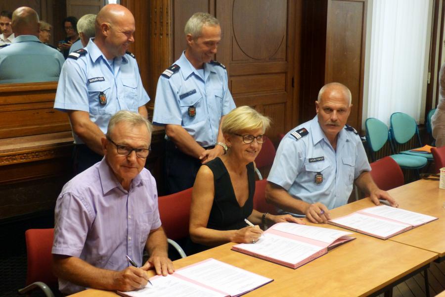 Signature de convention entre l'éducation nationale, le SDIS et l'UD des sapeurs-pompiers du Tarn