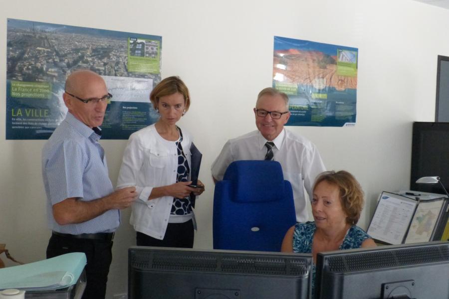 Visite de la nouvelle Directrice de cabinet du préfet au SDIS