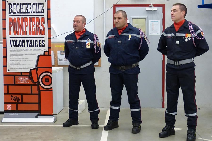 Passation de commandement au centre d'incendie et de secours d'Alban