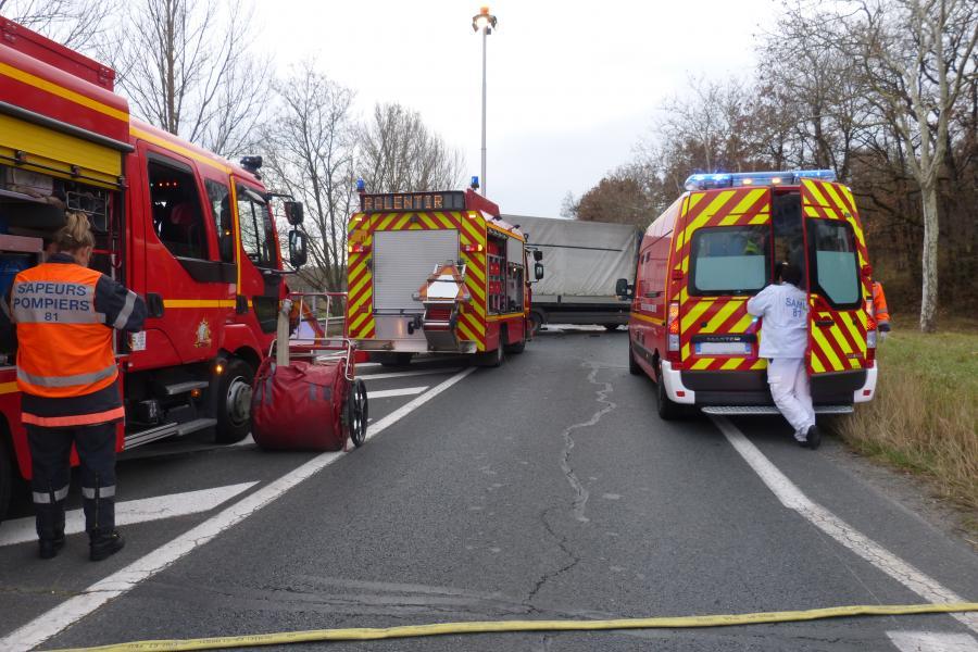 Accident de la circulation sur la commune de Dénat
