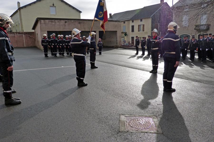 Passation de commandement du centre de secours de Murat-sur-Vèbre