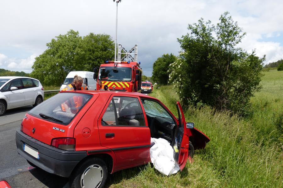 Accident de la circulation sur la commune de Lombers