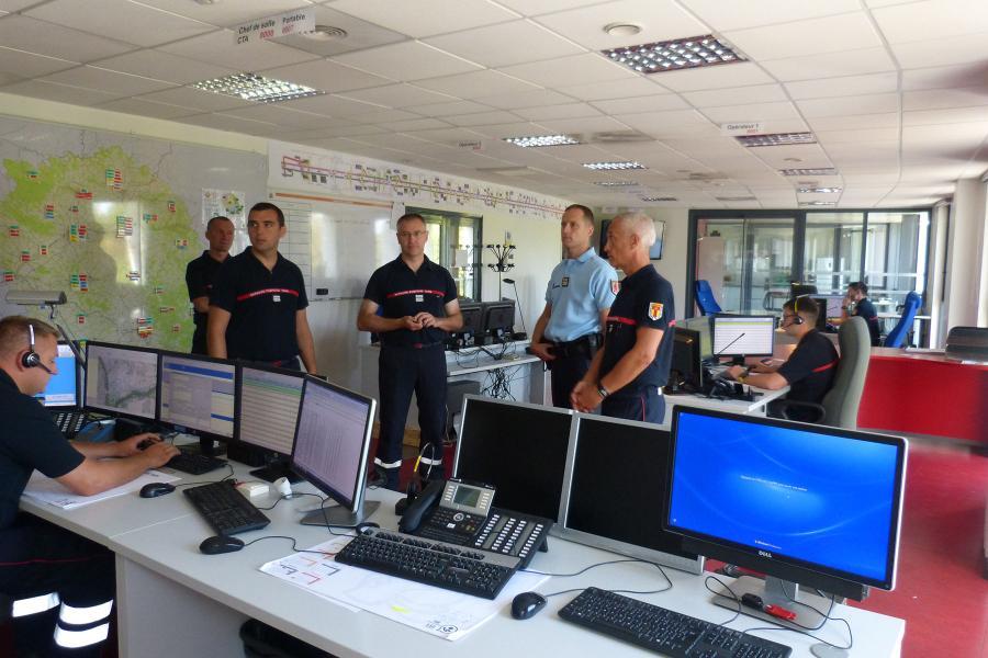 Visite de l'Etat-major du commandant de gendarmerie du Tarn