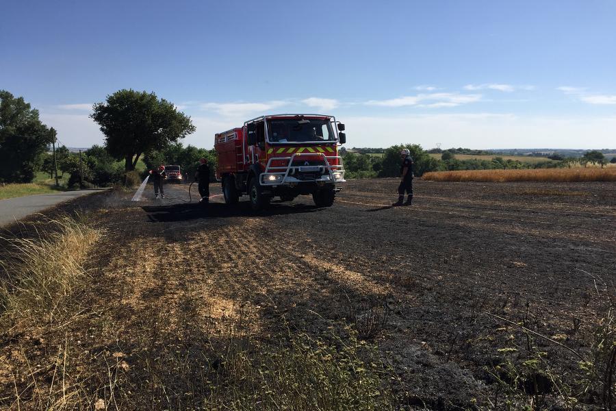 Les sapeurs-pompiers du Tarn mobilisés pour plusieurs feux de récoltes