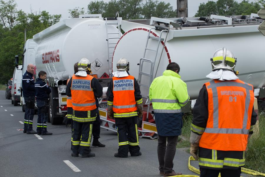 Accident de la circulation sur la commune de Damiatte.