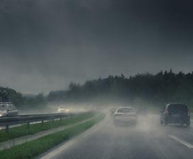 Rouler par mauvais temps
